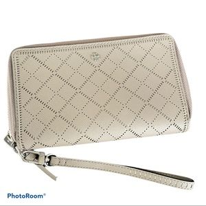 TORY BURCH perforated Robinson continental wallet